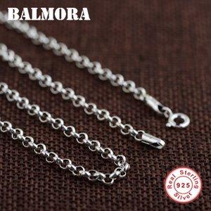 Balmora 100% Réel 925 Chaînes Bijoux En Argent Sterling Colliers Pour Hommes Collier En Argent Sterling Accessoires 18-32 Pouce 0013 J190610
