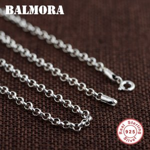 Balmora 100% Real 925 Joyas de plata esterlina Cadenas Collares Para Hombres Accesorios de collar de plata esterlina 18-32 pulgadas 0013 J190610