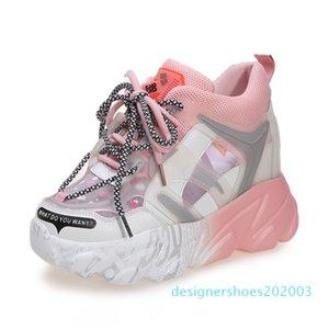 Women Platform Sandals 10cm Super High Heels Chunky Sandal Designers Brand Wedges Casual Shoes For Woman Summer Mesh Breathable d03