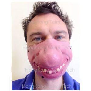 New Lustige große Nase Halbgesichtsmasken Latex-Maske Prank Halloween Mascaras Props Spoof lustiger Witz Trickster cosplayen