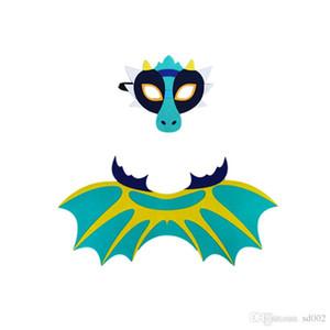 Динозавр Крыло Плащ Костюм Войлок Dragon Косплей костюмы Frost Wyrm маска Halloween Party Выполните проп мультистиле 10 5djb1