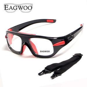 Eagwoo adultos esportes ao ar livre de basquete óculos de futebol vôlei óculos de ténis Templo destacável lentes de prescrição Workable