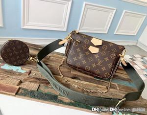 Nouveauté POCHETTE Accessoires Femmes de portefeuille trois pièces Porte-monnaie Top Taille Qualité Large 25 * 13cm Petit 20 * 11cm ronde 10 avec box3.