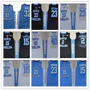 NEW NCAA 노스 캐롤라이나 타르 힐 마이클 대학 5 나시르 리틀 카터 (32 개) 누가 복음 Maye 반스 빈스 UNC 블루 블랙 화이트 농구 유니폼