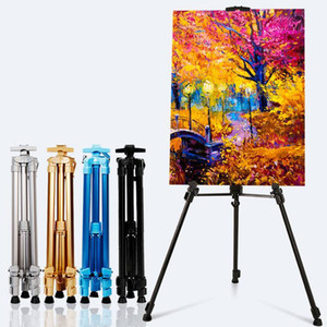 Portable Adjustable Aluminum Display Art Easel Painting Easel Stand For Painting Oil Paint Sketch Artist Art Supplies For Artist Y200428