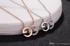 925 sterling silver mini G letter logo necklace pendant female clavicle chain Sen to send girlfriend girlfriends birthday gift