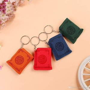 4 Farben Mini islamischen Muslim Ark Quran-Buch Keychain Schlüsselring-Charme-Tasche Auto-Schlüssel-Anhänger Religiöse Schlüsselanhänger Unterstützung FBA Drop Shipping M177F