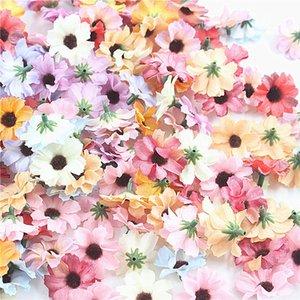 Teste del fiore della margherita del Gerbera 4cm seta falso fiori artificiali Marguerite decorazione matrimoniale con fiori Scrapbook fai da te Fiori