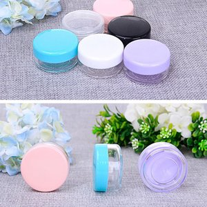 Dropshipping Plastic Multicolor Cosmetics Containers PS Jar Cases Capacity Box 10g 15g 20g Face Cream Storage Case Makeup Boxes B3402