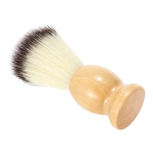 Hot Shaving Barber Salon Men Facial Beard Cleaning Device Shave Tool Soft Shaving Brush With Wooden Handle For Men