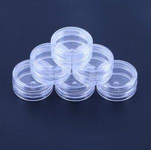 2ML de plástico transparente vacío Jar28x13MM tapa transparente 2GRAM Pot Tamaño de la muestra para el cosmético Crema Sombra de ojos en polvo de uñas joyería E-líquido SN4376