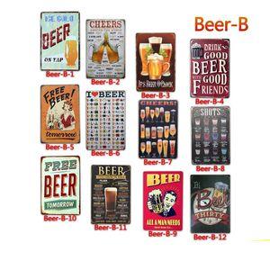 Da cerveja do vintage Placas de lata de metal Posters Old Metal Wall Plaque Club Recados Início de arte de metal Pintura Wall Decor Art Imagem decoração de festa FFA2806
