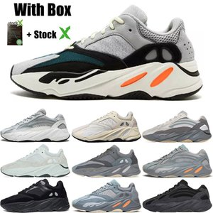 2020 카본 블루 700 V2 웨이브 카니 예 웨스트는 신발을 실행 유틸리티 블랙 Vanta를 자주 빛 테프라 남성 디자이너 슈즈 여성 3M 정적 스니커즈