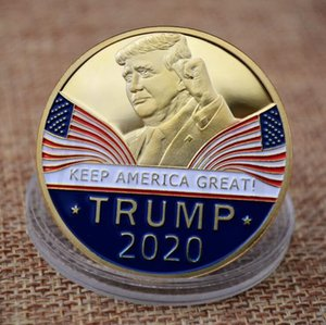 Trump Speech Commemorative Coin America President Trump 2020 Collection Coins Crafts Trump Avatar Keep America Great Coins 100PCS