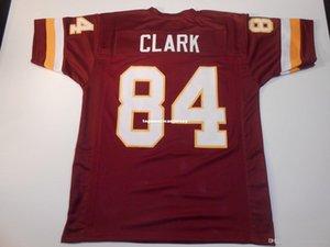 Ucuz Retro özel Dikişli Dikişli # 84 Gary Clark Burgonya MITCHELL NESS Jersey Üst S-5XL, 6XL Erkek Futbol Formalar Rugby