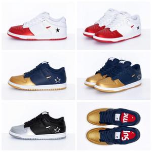 Sup SB Dunk Low Pro x OG QS Noir Argent Rouge Skateboard Designer Chaussures Femmes Hommes Dunks chaussures de basket-ball pas cher Zapatos Schuhe