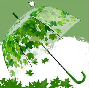 Transparente Espesar POE Arqueado Mushroom Umbrellas Hojas Creativas Diseño Bubble Umbrella 4 Colores Envío Gratis
