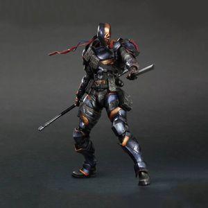 27cm SquareEnix Playarts KAI Batman Arkham cavaliere Deathstroke mobile azione PVC Figure da collezione modello giocattolo