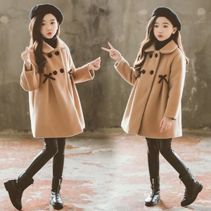 Enfants d'hiver filles manteau d'automne chaud Manteau en laine Pardessus mignon Bow coton Rembourrage épais bébé Vêtements Fille Veste Vêtements enfants