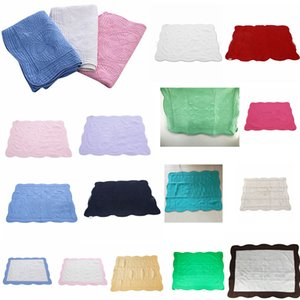 Blanket 22styles INS bebê bordado Cotton Blanket infantil Ruffle Quilt Criança Swaddling respirável cama Ar Condicionado FFA4228 Blanket