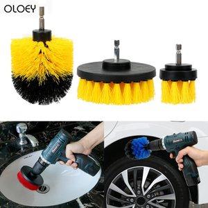 OLOEY 3pcs / Oto Yıkama Fırçası Sert Kıl Temizleme Oto Bakım Temizlik Araçları Detaylandırma Scrubber Fırça Seti Auto Matkap set