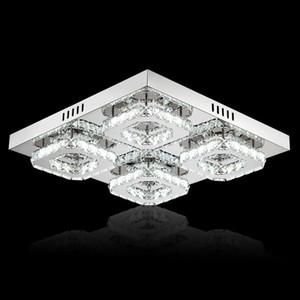 Superfície de moda LED Crystal Light Praça Modern Mounted Lamp lustres de cristal teto luminária Para Sala Quarto
