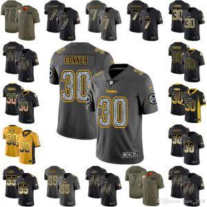 James Conner Villanueva Roethlisberger Bush 2019 Salute to Service Rush Impact USA Flag Smoke Gray Static Fashion Black Gold City Jersey