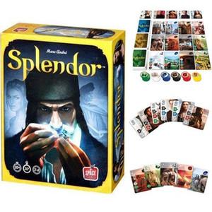 Splendor Настольная Игра полная английская версия Большая Коробка / Настроить Splendor Game Высококачественная Резина Playmat 60X35 см