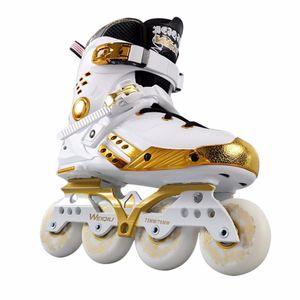 Illuminante pattini in linea PU spinge la luce LED Full Up Ruote Roller Skates universale uomini e donne per Pista di Pattinaggio Hot
