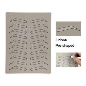10 pçs / lote Nenhum pigmento de tatuagem de sobrancelha Prática falsa prática pele para microblading caneta PMU tatuagem pele com forma de sobrancelha para uso beginer