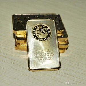 Livraison gratuite 5pcs / lot, RARISSIME 1 oz Perth Mint - cygne noir lingot d'or doré 24 carats Livraison gratuite