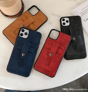 classic Designer Card Pocket Luxury Leather Anti-Slip Phone Case Cover For iPhone 11 11pro Max XS XR X 8 7 6plus Full Protection