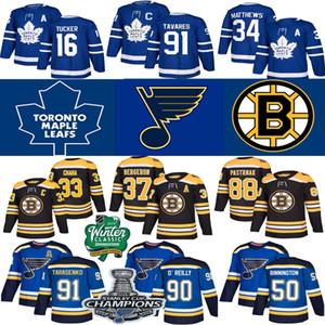 St. Louis Blues Jersey 2019 champions de la Coupe Stanley Maple Leafs de Toronto Hockey Jersey 27 Pietrangelo 91 Tarasenko 17 Schwartz 90 O'Reilly