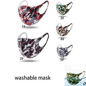 Designer mask Camouflage Washable Reusable Breathable Face cloth mask Sunproof Dustproof Cycling Sports Mouth Cover Masks Party Masks