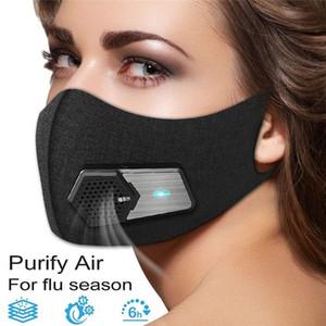 Smart antipoussière électrique Masque Masques anti-buée PM2.5 sport de protection anti-poussières industrielles de respiration Masque réutilisable Valve Livraison gratuite