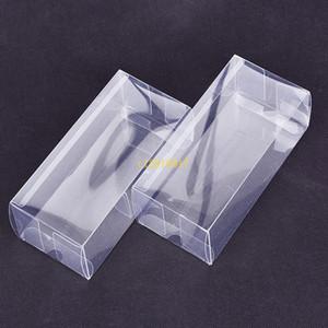 200pcs / lot большая прямоугольная пластиковая прозрачная коробка / прозрачная ПВХ пластиковая упаковка коробка образец / подарок / ремесла дисплей коробки