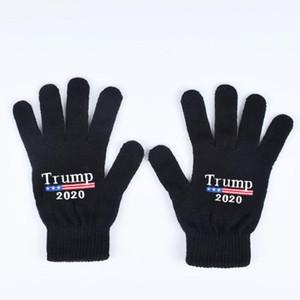Finger bambini Mittens Trump divertente Guanti di maglia lettere stampate Cinque Finger Gloves Moda inverno caldo Mittens bambini Guanti WY424Q