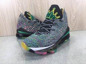 Os mais recentes Nike Lebron James 17 Prometo que vai sonhar grandes sapatos Mens Basketball colorido Fundação coroa 17s Mens Designer Sports Sneakers instrutor CD5052-300