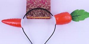 Traje de la venda de las vendas del partido divertido Plátano Zanahoria Pimiento Berenjena Cinta de cabeza apoyos cumpleaños palos hortalizas de fruto pelo del niño