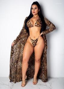 Bikini Kadınlar Tasarımcı Sexy Lady Mayoları Plaj Mayo Kadın Giyim Yaz 3adet Leopar