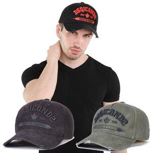 2020 neue Kappe DSQICOND2 LuxuxMens Hutdesignerin Mützen Baseball-Kappen Frauen Casquette Stickerei einstellbar Dad-Kappe casquette