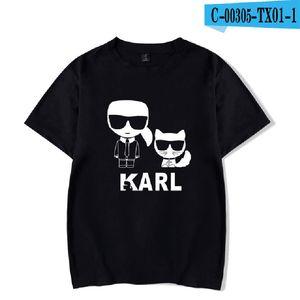 SMZY Karl Divertente Stampa T-shirt Casual Donna Homme Vestiti 2019 Vendita calda Top Breve Fresco Tshirt Oversize Ragazze Sexy Tshirt Donna T190601