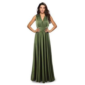 Kadınlar Sıcak Satış Seksi Açık Geri Elbise Yaz BODYCON Formal Elbise V-Yaka İmparatorluğu Kolsuz Bayan Giyim