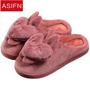 ASIFN Kadın Terlik Kış Kabarık Sevimli Kalp Bayanlar terlik Aşk Kadın Ayakkabı Peluş Kadın Çevirme Zapatos De Mujer