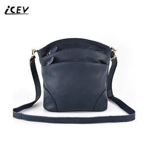 Icev New 100% Cow Genuine Leather Bag Handbags Women Famous Cowhide Crossbody Bags For Women Messenger Bags Ladies Shoulder Tote Y19052701