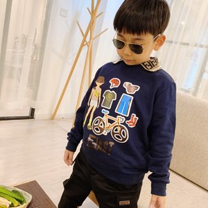 2020 New arrive Kids Boys girls hoodie baby turndown collar sweater chlid sweatershirts Children's clothing