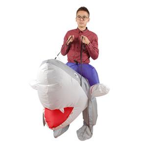 costume d'Halloween Carnaval gonflable de requin Costumes parti pour les femmes des hommes mascotte des animaux de fête d'anniversaire props Costume spectacles sur scène