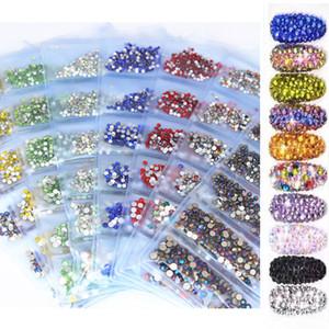 Micui 1440 adet Mix 6 Boyutu SS3-SS10 Cam kristal AB Rhinestones Düz Geri Yuvarlak Nail Art Taşlar Olmayan Düzeltme Strass Kristaller için DIY ZZ992