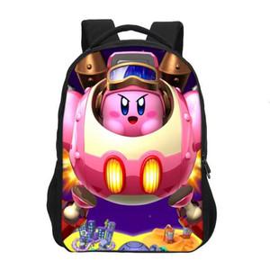 Veevanv New Kirby Studie Rucksack Art und Weise 3D Printing Kirby Bookbag nette Kinder Umhängetasche Designer Schulrucksack Casul Mädchen Mochila