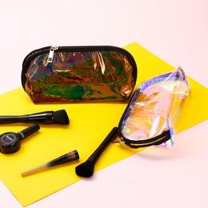 Summer New Style Women's Colorful Laser Cosmetic Bag PVC Laser Transparent Clutch Student Transparent Pencil Case
